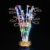 Fxm LED beleuchtete Bar KTV Champagner-Sitz, Cocktailbecherhalter mit Weinregal Kugelkugelschale Weinglashalter Weinregal 32 * 39cm (Farbe : Without a Bottle)