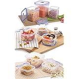 [Sponsored]Nirlon Plastic Container Set, 9-Pieces, White