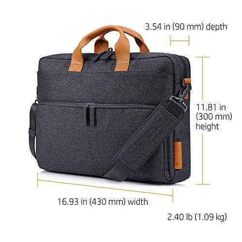 HP Envy Urban 15.6-inch Topload Laptop Briefcase with Shoulder Strap and RFID Blocking Pockets (Grey) Image 9
