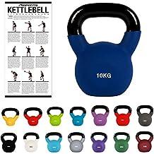 C.P.Sports Kettlebell Kugelhantel Vinyl Handgewicht Gymnastik 6 KG Kettle Bell Schwunghantel 2kg 3kg 4kg 5kg 6kg 8kg 10kg 12kg 14kg 16kg 18kg 20kg Kettlebells