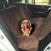 isremi (TM Antideslizante Productos para Asiento Trasero de Coche Resistente al Agua de Mascota Perro Seguridad Hamaca Protector Mat para Tronco SUV Mascota Perro Suministros, café