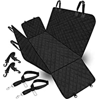 Basage for Car Truck and SUV Vicker Dog Seat Cover, 600D Heavy Duty Pet Car Seat Cover, Waterproof and Wear-Resistant, Durable Anti-Skid Backing and Hammock Convertible