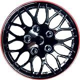4x Radkappen Radblenden MIAMI SCHWARZ ROT BLACK RED 16 Zoll (4 Stück)
