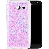 "Coque Samsung Galaxy J5 2017 Silicone, Samsung Galaxy J5 2017 Coque, Samsung Galaxy J5 2017 Housse, Nnopbeclik® Soft/Doux Transparente ""paillette brillant"" Backcover Housse ""J520F"" Antiglisse Anti-Scratch Etui ""NOT FOR J5 2016/2015"" - [Pink]"