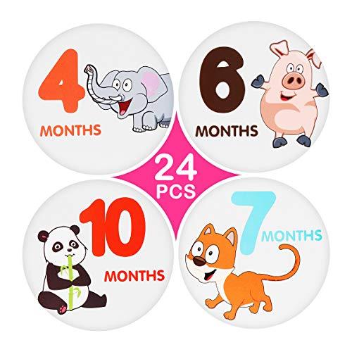 Toyvian Baby Monat Aufkleber Monatliche Meilenstein Aufkleber Neugeborene Baby Foto Requisiten Baby Shower Registry Geschenk oder Scrapbook Foto Memory Andenken