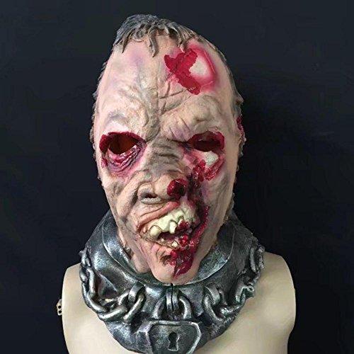MFFACAI Halloween, blutige Zombie Maske, geformte Geister Kopfbedeckung, Lebensmittel Klasse Latex, Simulation Ölgemälde, Scare Requisiten