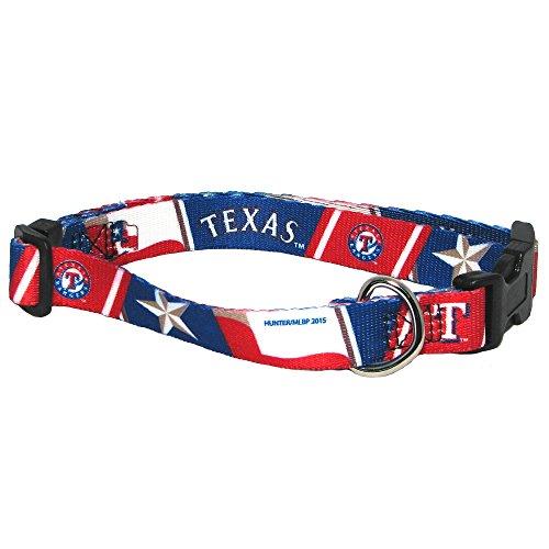 mlb-texas-rangers-adjustable-pet-collar-xx-small-team-color-by-hunter-mfg-llp