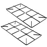 spares2go Pfanne flach Support Grid für Schreiber Ofen Haube Backofen Herd Gasherd (2Stück, 450mm x 220mm, klein)
