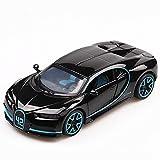 GUANGYING Modèle De Voiture 1:32 Modèle De Voiture en Alliage Bugatti Chiron avec Son Et Lumière Tirer en Arrière Modèle De Voiture De Sport Super