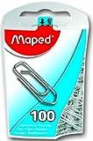 Maped Helix USA Paper clips en acier, acrylique, Multicolore, 12pièces
