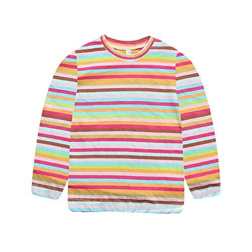 Topgrowth maglietta bimba camicia a righe neonato manica lunga stampare t shirt bambini casual pullover felpe cime top