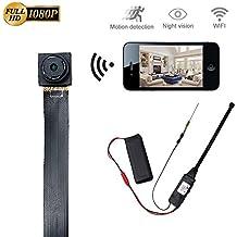 Cámara Espía Wifi LXMIMI HD 1080P Spy Mini Wifi Cámara Portátil Inalámbrico con Luz Baja Bisión Nocturna y Detección de Movimiento