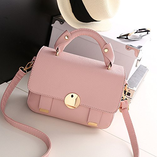 HQYSS Borse donna Marea spalla mano Messenger Bag semplice Wild quadrato piccolo pacchetto , circle deep purple bag mirror round pink bag