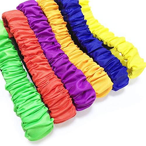 Blue-Yan Lorchwise 6 Stücke Kinder Doppel Menschen Dreibeinigen Seil Strap Laufen Kinder Sport Spiel Outdoor Kinder Leggings 11 cm / 4,33 Zoll -
