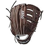 Wilson Baseballhandschuh, Rechtswerfer, 12.5 inch, A900, Braun/Weiß, WTA09RB18125