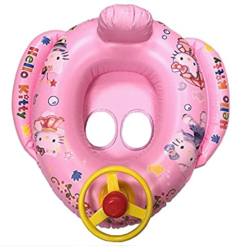 Baby Kids Children Swimming Seat Inflatable Ring Car 2-5Y in