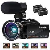 4K Camcorder, Aabeloy Vlogging Video Camera Ultra HD Wi-Fi Digital Camera 48.0MP 3.0