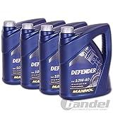 4x MANNOL MN7507-5 Defender 10W-40 Motoröl API SL/CF 5L