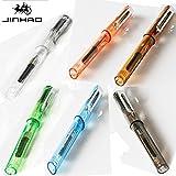 Jinhao 599plumas transparente seis Color Plata Clip Escritura Suave bolígrafo de 0,5mm pluma estilográfica regalo y oficina escuela papelería