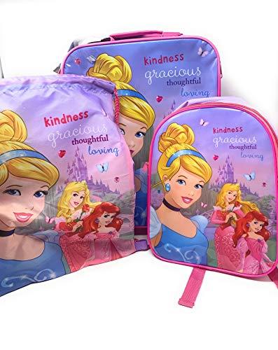 Disney Princess - Juego Equipaje 3 Piezas Maleta rígida