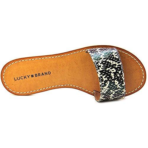 Lucky Brand Deldonna Damen Textile Sandale Black/White Untamed Snake