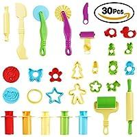 Juego pack de 30 herramientas para plastilina - herramienta masa, Incluye cortadores - Moldes -