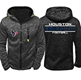 CCKWX NFL Hoodie -Houston Texans High Neck Fußball Unisex Bequeme Trainingssportkleidung, Warme Fleece Langarm-Pullover