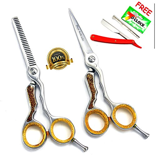 neuf-set-professionnel-coiffeur-139-cm-ciseaux-et-couper-avec-rasoir-mince-professionnels-de-coiffur