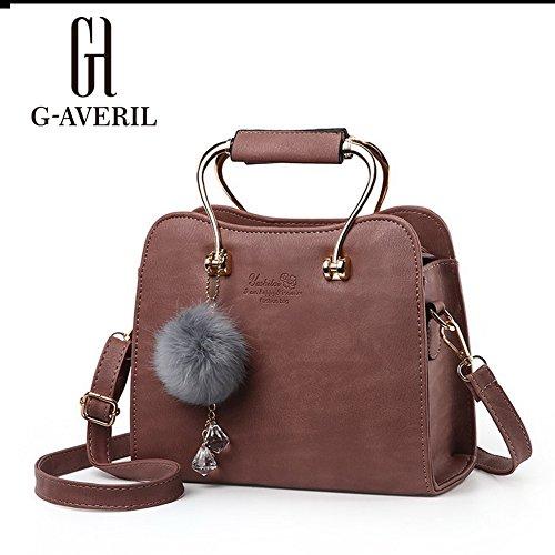 (G-AVERIL) Borse a Spalla e tracolla eleganza elegante Moda Donna marrone1