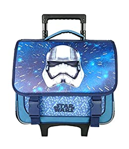 Bagtrotter SWNI18CASQ Star Wars - Carrito Escolar (38 x 14 x 33 cm), Color Gris