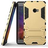 Funda para Xiaomi Mi Note 2 (5,7 Pulgadas) 2 en 1 Híbrida Rugged Armor Case Choque Absorción Protección Dual Layer Bumper Carcasa con pata de Cabra (Dorado)