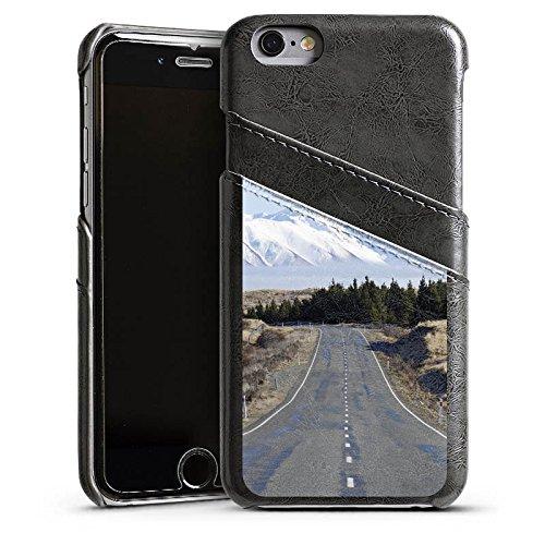 Apple iPhone 4 Housse Étui Silicone Coque Protection Paysage Rue Montagnes Étui en cuir gris
