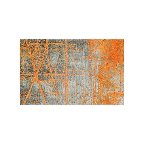 wash+dry Rustic Fußmatte, Acryl, orange, 110 x 175 x 0.9 cm