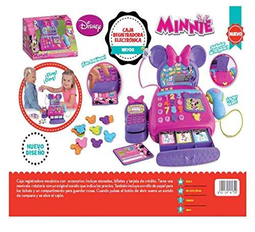 Disney Caja REGISTRADORA Minnie con Pantalla Digital, Lector Y DATAFONO