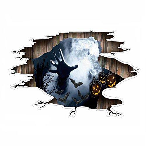 Wandtattoo Wandaufkleber Wandsticker Wandverzierung Selbstklebende Halloween Aufkleber Tapete Schlafzimmer Wohnzimmer Renovierung, Die Leicht Haltbar Ist(73.5x35cm) LAD-I (Die Ansicht Halloween)
