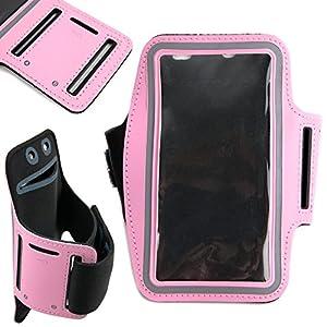 DURAGADGET Brazalete Deportivo Rosa para Smartphone Xiaomi Redmi Go, Xiaomi Redmi 7, Honor 10i - Neopreno - Hipoalergénico Y Antideslizante