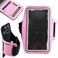 DURAGADGET Exclusive Unisex Sports Armband in Pink - Running, Cycling & Gym Smartphone Case - Compatible BUSH Sim Free Bush Windows Mobile Phone/LG TRIBUTE/Micromax Canvas Duet/Microsoft Lumia 640