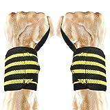 Protegge Polso, PEMOTech Reggicalze regolabili [1 paio / 2 pacchetti] [ 62 cm×7,8 cm] Pesi da sollevamento Cinghie da polso Cinture di supporto avvolge Protezione cintura con polsini per Powerlifting & Crossfit Bodybuilding & Weight Lifting & Forza Allenamento & allenamento e palestra, misura per tutti Uomini e donne (Nero+giallo)