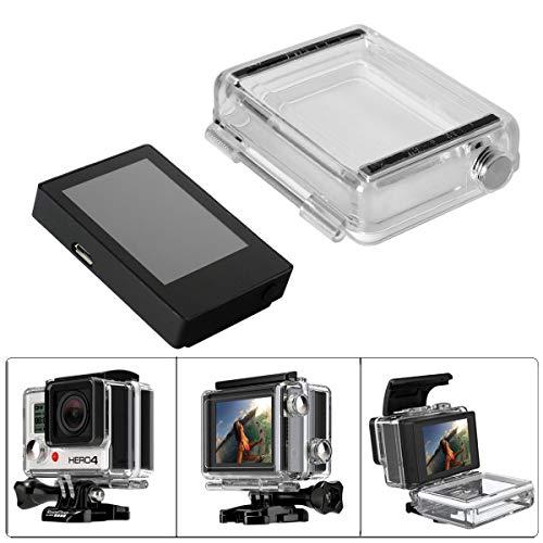 Fantaseal LCD BacPac Externer Monitor Display Viewer mit Rückabdeckung, wasserdichtes Gehäuse, Backdoor kompatibel für GoPro Hero 4 Hero 3+ / Hero3, Weiß Slim Edition