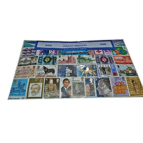 London England GB Great Britain British UK Stamp (300 Stamps All Different) Collection Souvenir! Souvenir/Speicher/Memoria! Highly Collectible Stamps! British UK Collectable Souvenir! A Unique and Educational Souvenir! Timbre/Stempel/Francobollo/Sello! S01