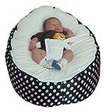 Pouf très grande taille pour Bébé avec harnais de sécurité réglable et deux housses amovibles