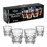 Mixology Totenkopf Shot-Glas, transparent, 4Stück