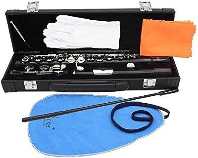 XIE@16 hoyos C flauta instrumentos de viento negro equipados con varilla de limpieza, ropa, accesorios de grasa y un destornillador caja dedicada