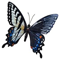 LARGE METAL COLOURFUL BUTTERFLY GARDEN DECORATION WALL ART 31cm x 35cm by .