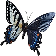 LARGE METAL COLOURFUL BUTTERFLY GARDEN DECORATION WALL ART 31cm x 35cm