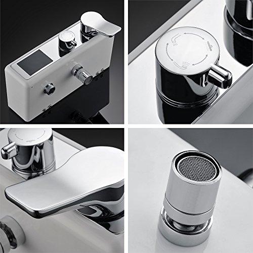 Homelody – Duschsystem mit LCD-Anzeige für Wassertemperatur und Zeit, Chrom - 6