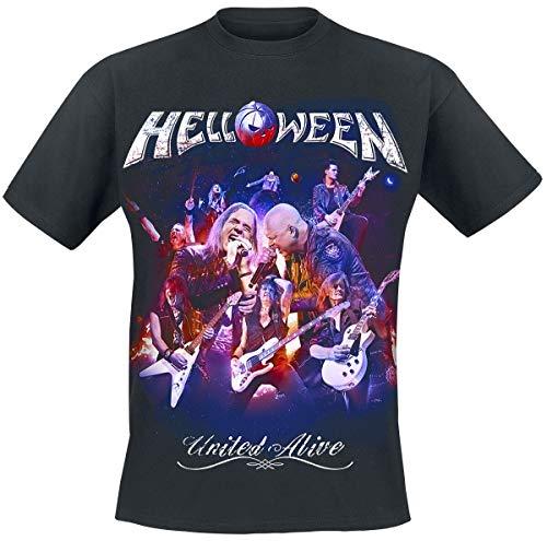 Helloween United Alive - Cover Camiseta Negro M