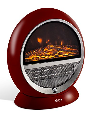 Argoclima Pepita Red Elektro-Kamin aus Keramik, oszillierend, Rot