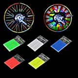 Baakyeek 5 Sets/60 pcs Cycling Wheel Spoke Reflective Mount Clip, 5 Colors