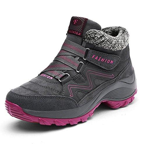 Minetom Primavera Scarpe Donna Uomo Caldo Calzature da Escursionismo Ginnastica Sneakers Calzino Palestra Corsa da Arrampicata B Grigio
